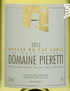 Muscat - Domaine Pieretti - 2017 - Blanc