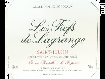 Les Fiefs de Lagrange - Château Lagrange - 2014 - Rouge