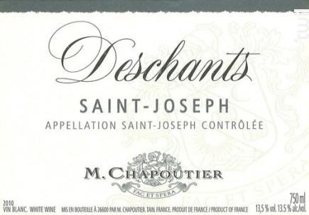 Deschants - Maison M. Chapoutier - 1997 - Blanc