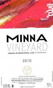 Minna - VILLA MINNA VINEYARD - 2010 - Rouge