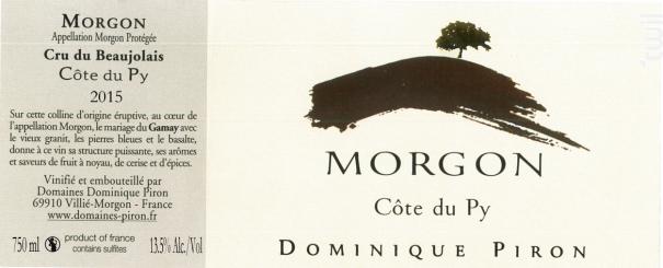 Morgon Côte du Py - Dominique Piron - 2016 - Rouge
