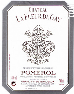 Château La Fleur de Gay - Château La Fleur de Gay - 2015 - Rouge
