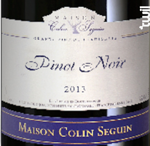 Pinot Noir - Tradition - Maison Colin Seguin - 2018 - Rouge