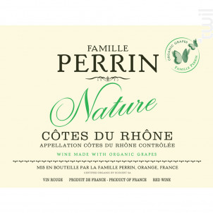 Nature Perrin - Famille Perrin - 2016 - Rouge