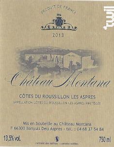 Château Montana - Château Montana - 2015 - Rouge