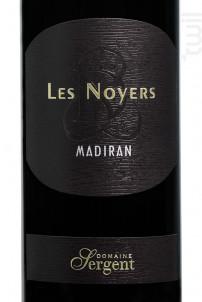 Madiran Les Noyers - Domaine Sergent - 2016 - Rouge