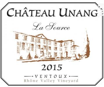 La Source - Château Unang - 2016 - Rouge