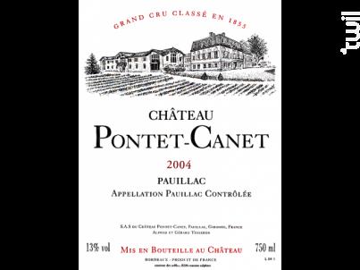 Château Pontet-Canet - Château Pontet-Canet - 2004 - Rouge