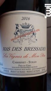 Les vignes de mon Père - Mas des Bressades - 2017 - Rouge