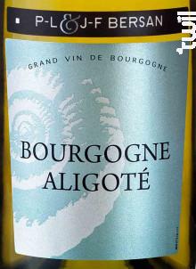 Bourgogne Aligoté - Domaine JF & PL Bersan - 2017 - Blanc