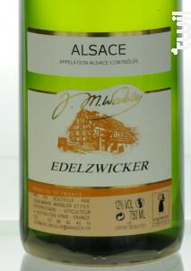EDELZWIKER - Domaine Jean-Marie et Fabrice Wassler - 2015 - Blanc