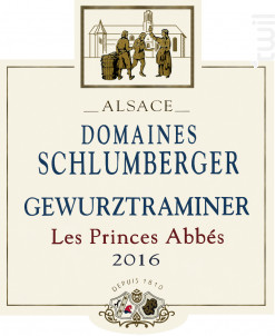 Gewurztraminer Les Princes Abbés - Domaines Schlumberger - 2016 - Blanc