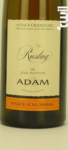 Riesling Grand-cru Wineck-Schlossberg - JEAN BAPTISTE ADAM - 2017 - Blanc