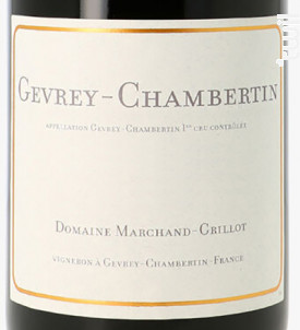 Gevrey-Chambertin - Domaine Marchand-Grillot - 2016 - Rouge