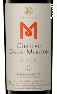Château Croix-Mouton - Château Croix-Mouton - 2016 - Rouge