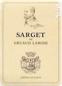 Sarget de Gruaud-Larose - Château Gruaud-Larose - 2008 - Rouge