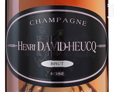 Rosé Brut - Champagne Henri David-Heucq - Non millésimé - Effervescent