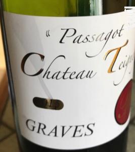 CUVEE PASSAGOT Graves - Château Teigney - 2017 - Rouge