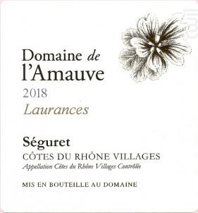 Cuvée Laurances - Domaine de l'Amauve - 2018 - Rouge