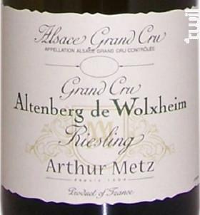 Grand Cru Altenberg de Wolxheim Riesling - Arthur Metz - 2016 - Blanc