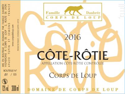 Corps de Loup - Domaine de Corps de Loup - 2016 - Rouge