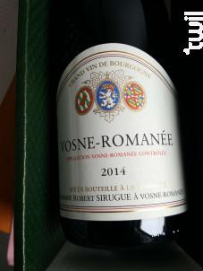 Vosne-Romanée - Domaine Robert Sirugue - 2018 - Rouge