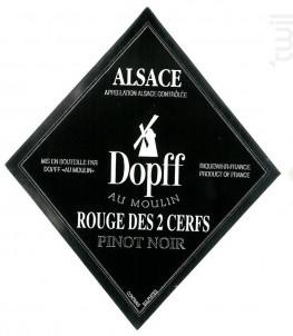 Pinot Noir Rouge des 2 Cerfs - Dopff Au Moulin - 2016 - Rouge