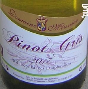 Pinot Gris - Domaine Meunier - 2017 - Blanc