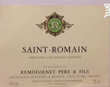 Saint-Romain - Remoissenet - 2011 - Blanc