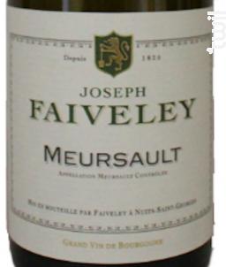 Meursault - Domaine Faiveley - 2015 - Blanc