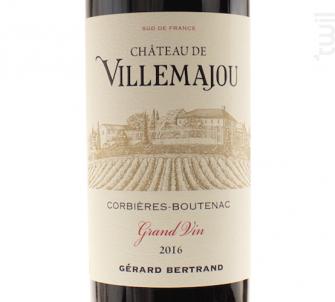 CHATEAU DE VILLEMAJOU GRAND VIN - Maison Gérard Bertrand - Domaine de Villemajou - 2017 - Rouge