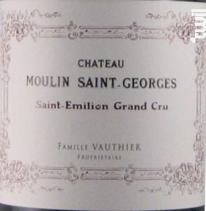 Château Moulin Saint-Georges - Château Moulin Saint-Georges - 2007 - Rouge