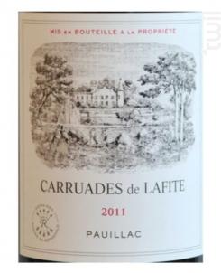 Carruades de Lafite - Domaines Barons de Rothschild - Château Lafite Rothschild - 2008 - Rouge