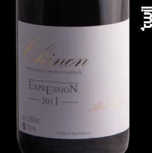 Expression Chinon - Alain et Pascal Lorieux - 2018 - Rouge