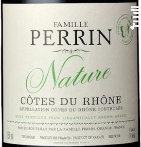 Côtes Du Rhône Nature - Famille Perrin - 2016 - Rouge