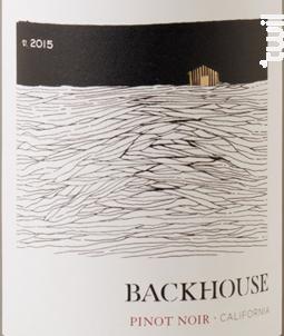 Backhouse Pinot Noir - Backhouse - 2015 - Rouge