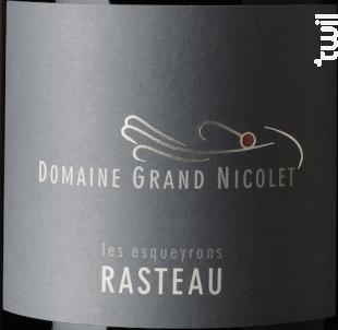 Rasteau cuvée des Esqueyrons - Domaine Grand Nicolet - 2015 - Rouge