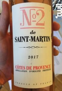 Le N°2 de Saint Martin - Château de Saint-Martin - 2017 - Rosé