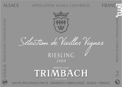 Riesling Sélection Vieilles Vignes - TRIMBACH - 2015 - Blanc
