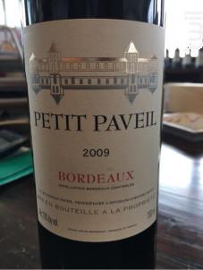 Petit Paveil - Château Paveil de Luze - 2016 - Rouge
