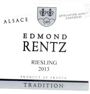 Riesling - Domaine Edmond Rentz - 2017 - Blanc