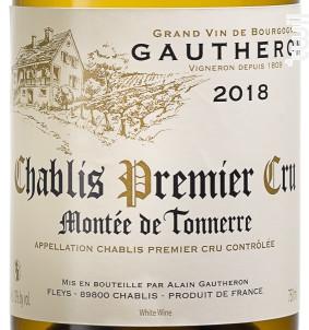 Montée de Tonnerre - Chablis 1er Cru - Domaine Gautheron Alain et Cyril - 2018 - Blanc