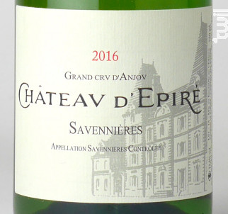 Château d'Epiré - Château d'Epiré - 2017 - Blanc