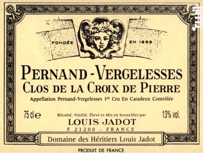 Pernand Vergelesses Clos de la Croix de Pierre - Maison Louis Jadot - 2014 - Blanc