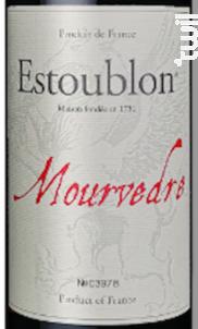 Mourvèdre - Château d'Estoublon - 2015 - Rouge