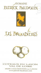 Les bruandieres - Domaine Patrick Baudouin - 2015 - Blanc