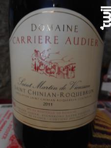 Cuvée Saint Martin de Vieussan - DOMAINE CARRIERE AUDIER - 2014 - Rouge