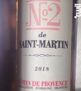 Le N°2 de Saint Martin - Château de Saint-Martin - 2018 - Rosé