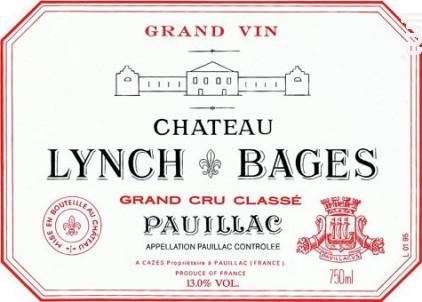 Château Lynch-Bages - Château Lynch-Bages - 1996 - Rouge