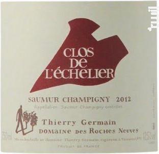 Clos de l'Echelier - Thierry Germain - Domaine des Roches Neuves - 2015 - Rouge
